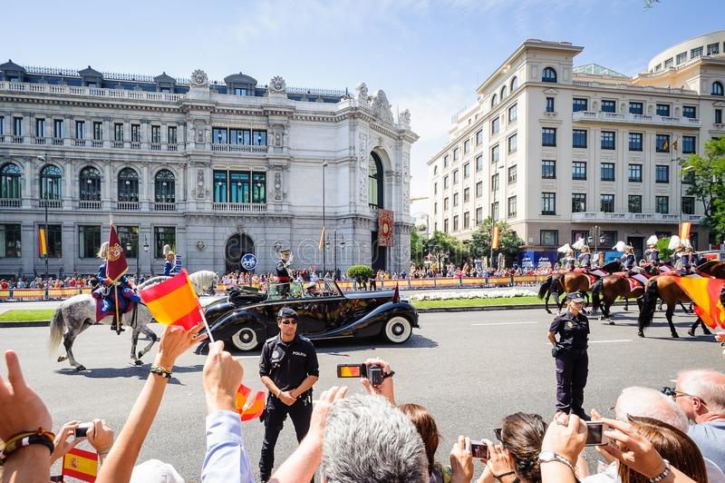 Viering van de kroning van de Nieuwe Koning van Spanje Felipe IV stock afbeelding