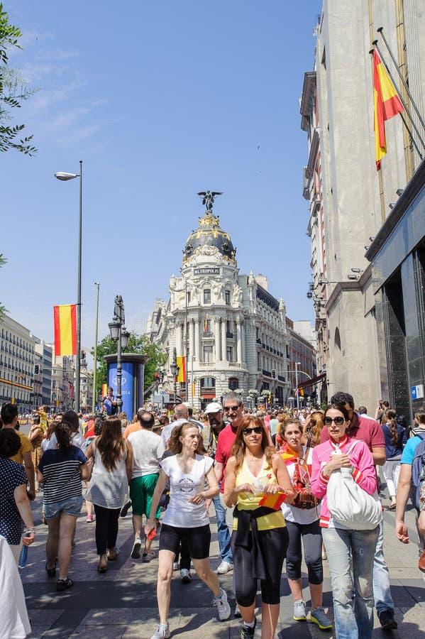 Viering van de kroning van de Nieuwe Koning van Spanje Felipe IV stock foto