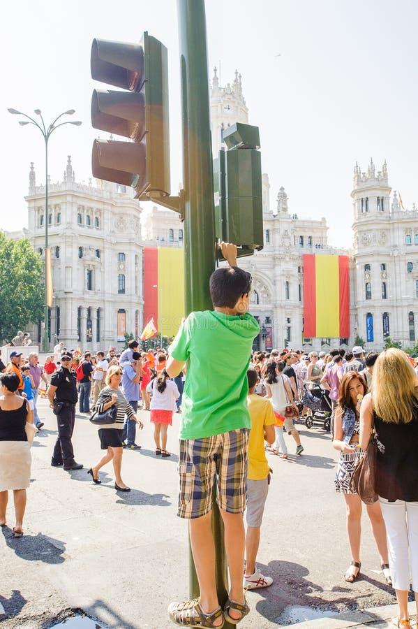 Viering van de kroning van de Nieuwe Koning van Spanje Felipe IV stock afbeeldingen