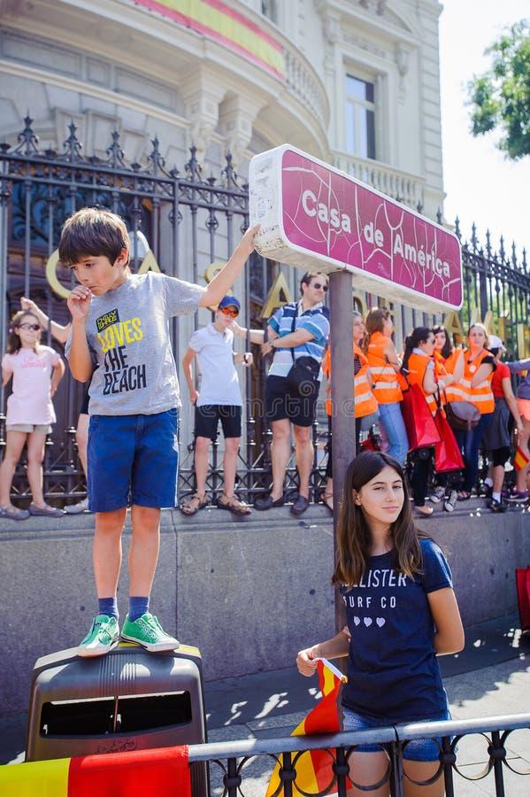 Viering van de kroning van de Nieuwe Koning van Spanje Felipe IV royalty-vrije stock afbeeldingen