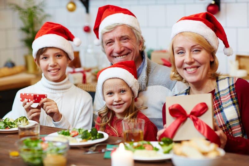 Viering van Kerstmis stock afbeeldingen