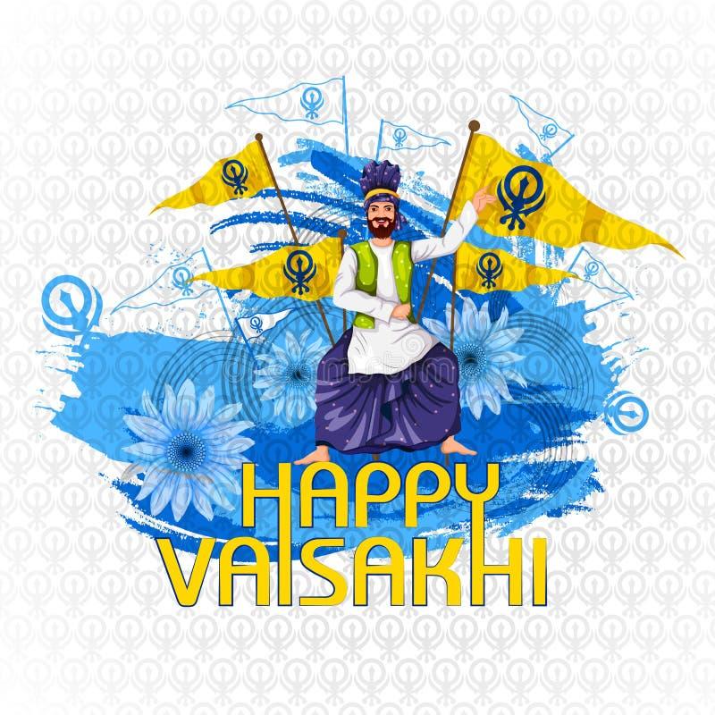 Viering van Punjabi-de achtergrond van festivalvaisakhi vector illustratie