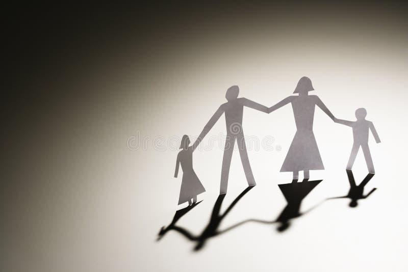 Vierköpfige Familie stockfoto