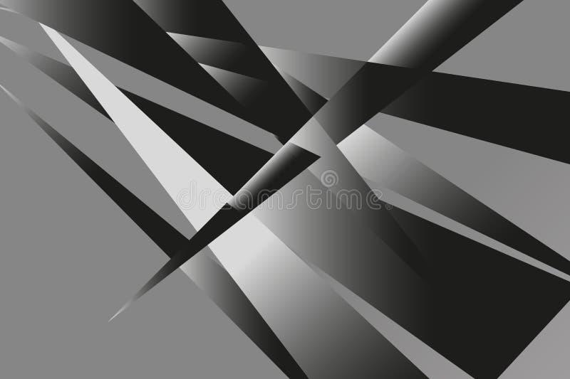 Vierkant abstract naadloos patroon Manier grafisch ontwerp als achtergrond Moderne modieuze abstracte textuur zwart-wit stock illustratie