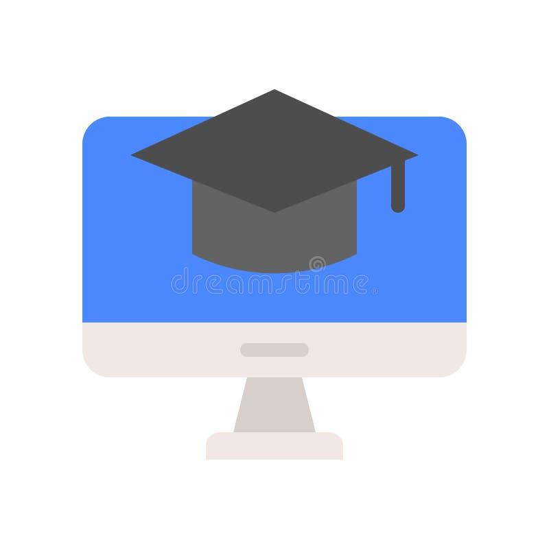 Vierkant academisch GLB op het computerscherm, e-lerend conceptenpictogram stock illustratie