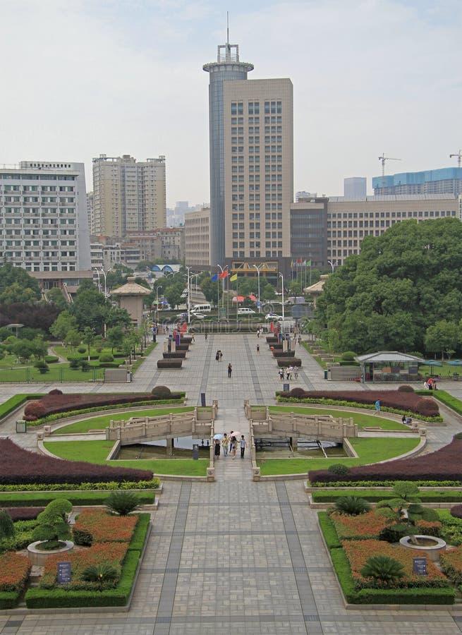 Vierkant bij het Provinciale Museum van Hubei stock foto's