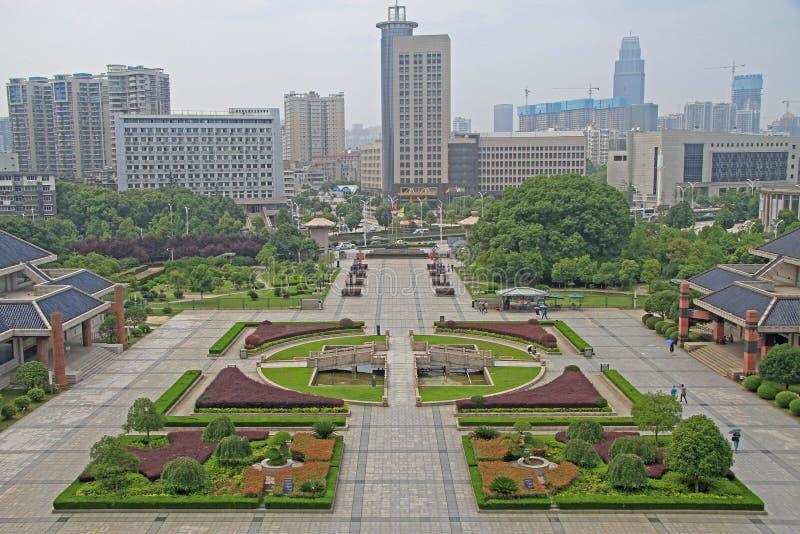 Vierkant bij het Provinciale Museum van Hubei stock afbeeldingen
