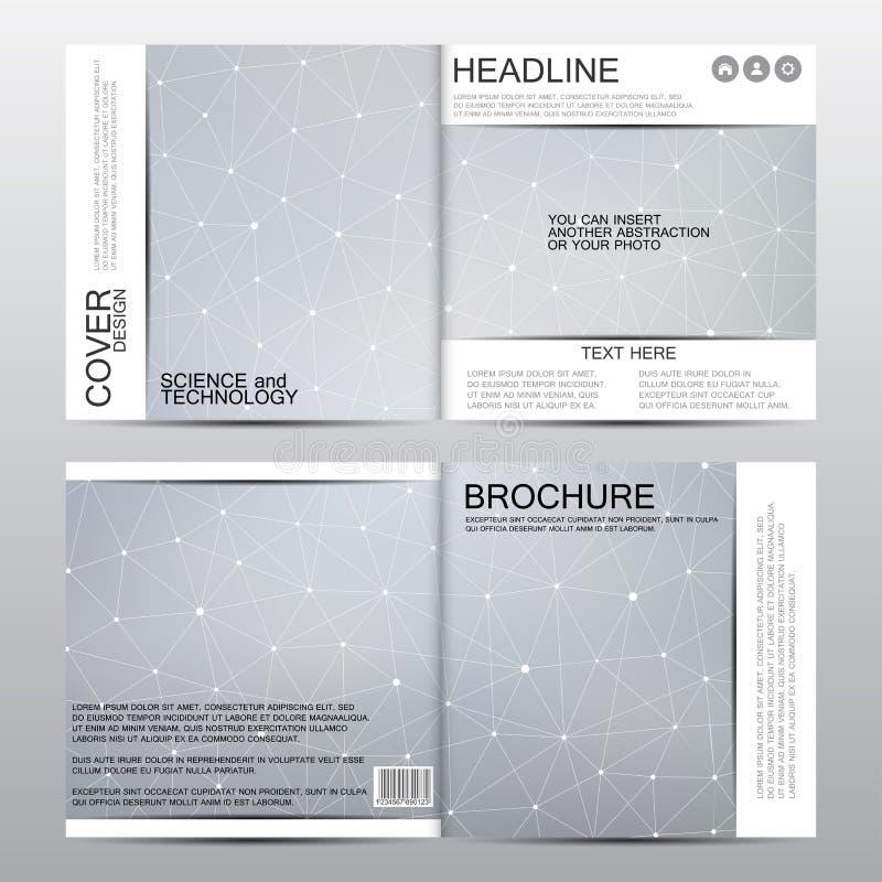 Vierkant brochuremalplaatje Abstracte vectorachtergrond Medisch en chemisch concept royalty-vrije illustratie
