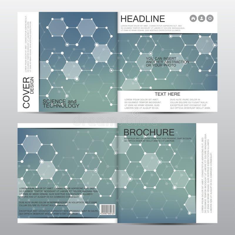 Vierkant brochuremalplaatje Abstracte vectorachtergrond Medisch en chemisch concept vector illustratie