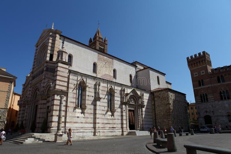 Vierkant Dante Alighieri - Grosseto, Toscanië, Italië royalty-vrije stock foto's