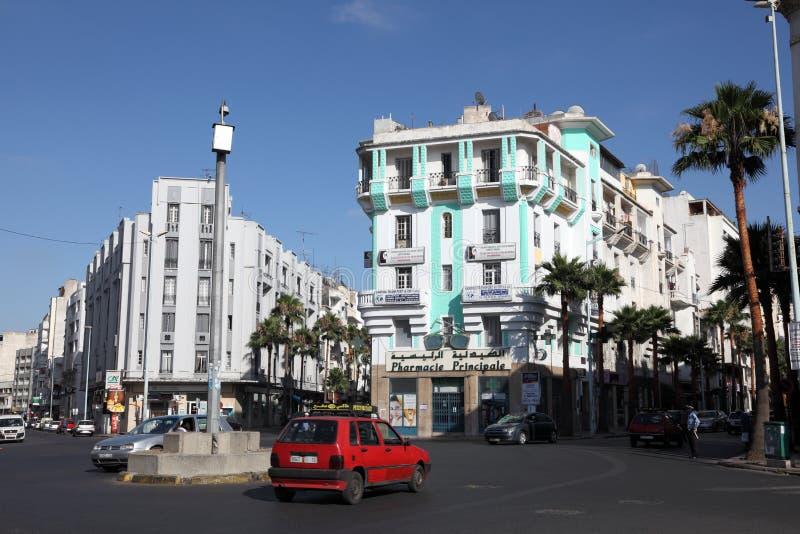 Vierkant in de stad van Casablanca royalty-vrije stock afbeeldingen
