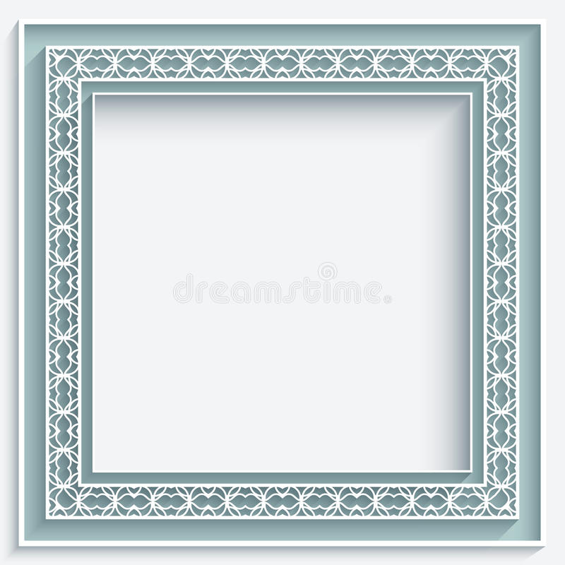 Vierkant document kantkader vector illustratie
