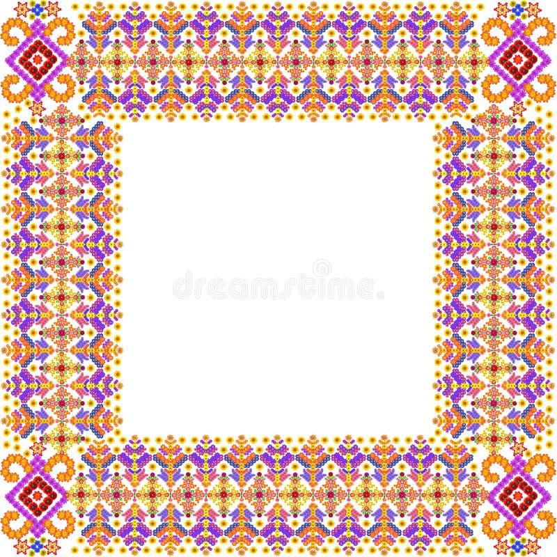 Vierkant eenvoudig de fotokader van de de zomertijd royalty-vrije stock afbeelding