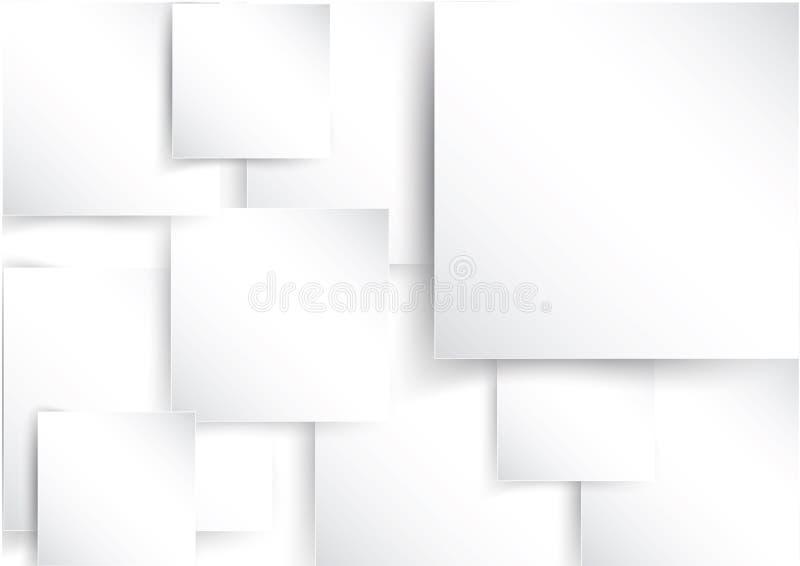 Vierkant element op Witboek met schaduw royalty-vrije illustratie