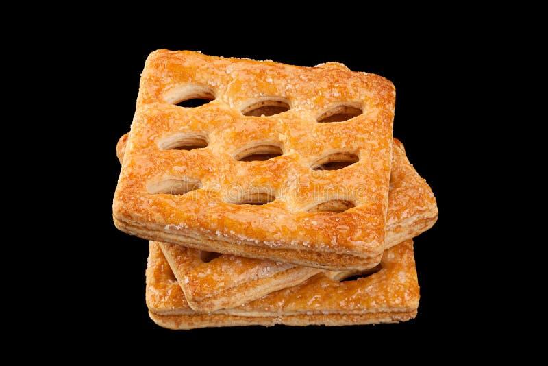 Vierkant geperforeerd koekje royalty-vrije stock afbeeldingen