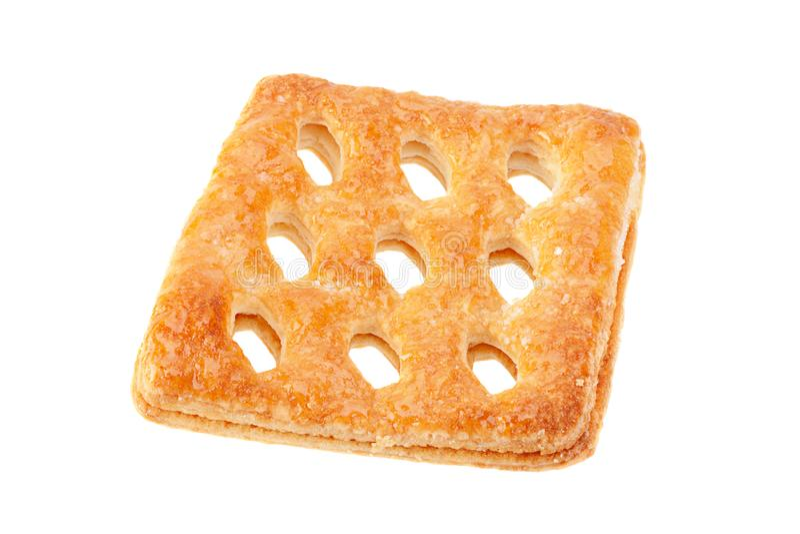 Vierkant geperforeerd koekje royalty-vrije stock foto