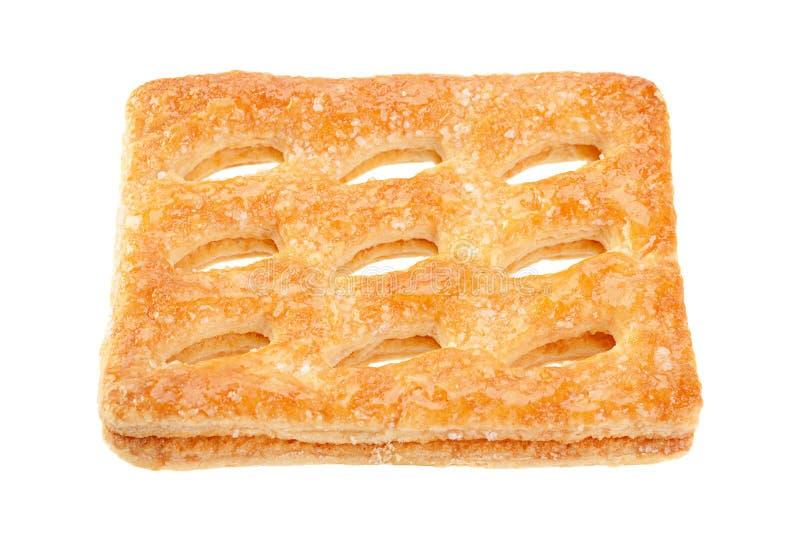 Vierkant geperforeerd koekje royalty-vrije stock fotografie
