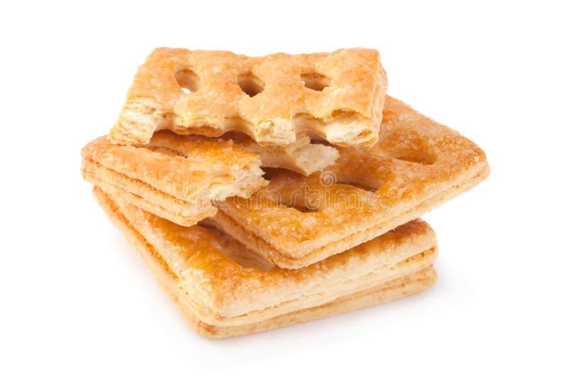 Vierkant geperforeerd koekje royalty-vrije stock afbeelding