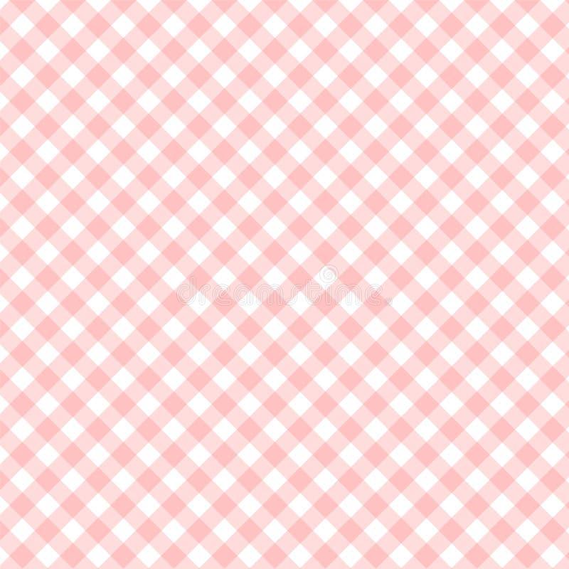 Vierkant gestript textielpatroon voor uw ontwerp, rode strook over stock illustratie