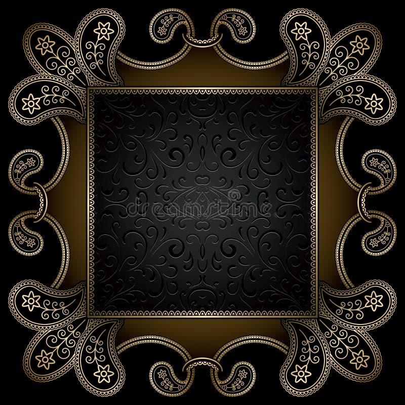 Vierkant gouden kader royalty-vrije illustratie