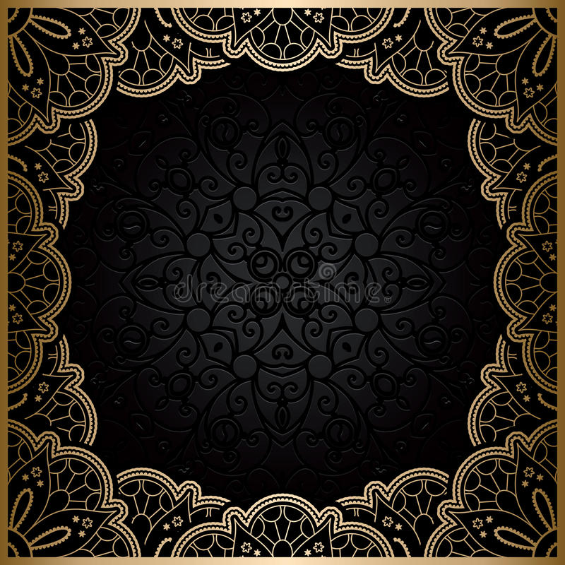 Vierkant gouden kantkader vector illustratie