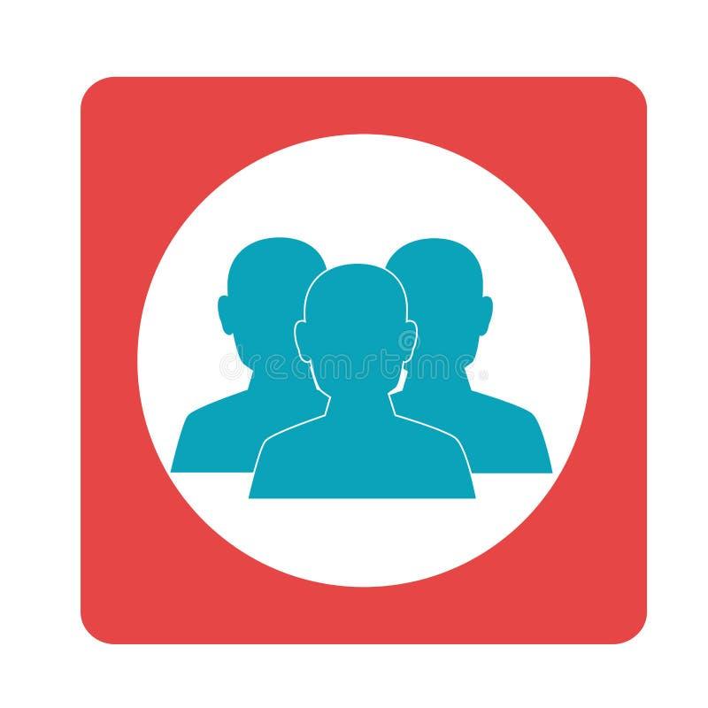 Vierkant groepswerk voor zaken in vergadering stock illustratie