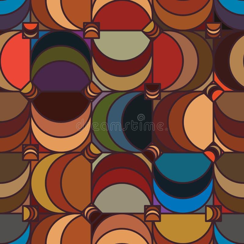 Vierkant half maan uitstekend naadloos patroon royalty-vrije illustratie