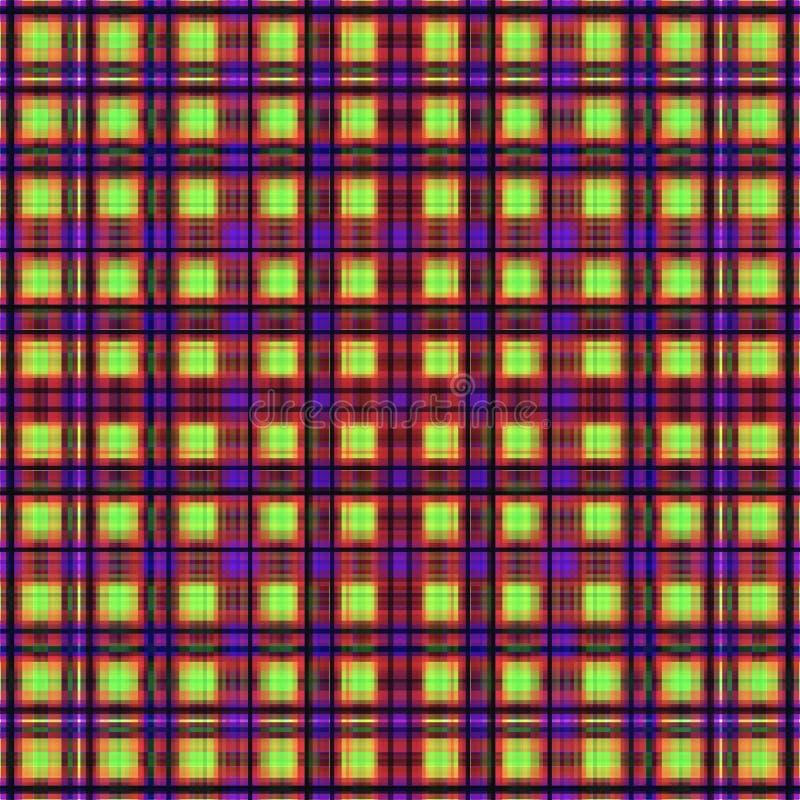 Vierkant hypnotic patroon, geometrische illusie behangstreep royalty-vrije illustratie