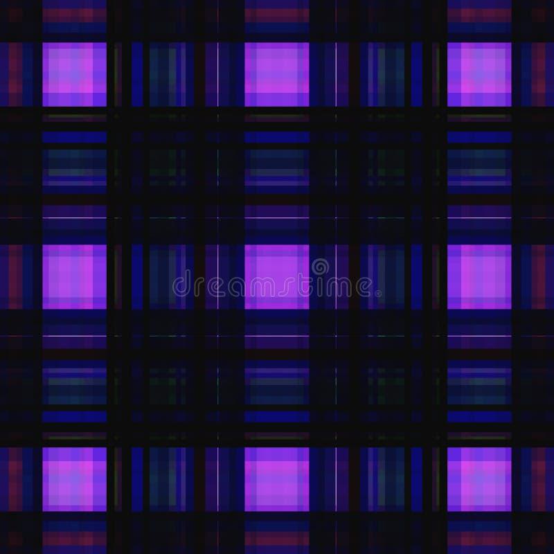Vierkant hypnotic patroon, geometrische illusie grafisch herhaal royalty-vrije illustratie