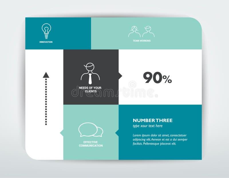Vierkant infographic lusje Vlak minimalistic ontwerp vector illustratie