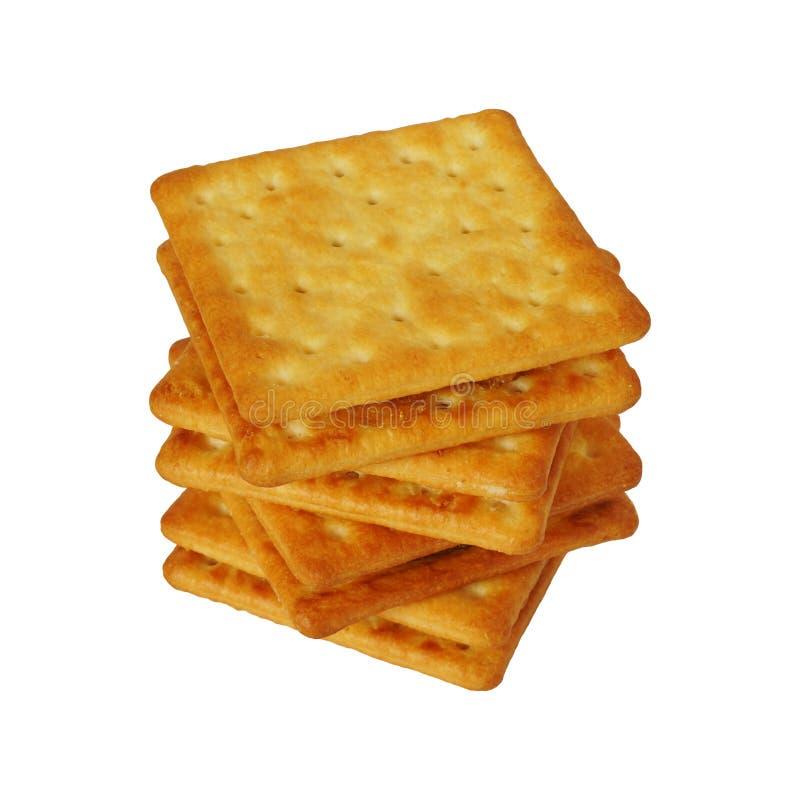 Vierkant koekje met zoete die ananasjam op witte inbegrepen het knippen weg wordt geïsoleerd stock fotografie