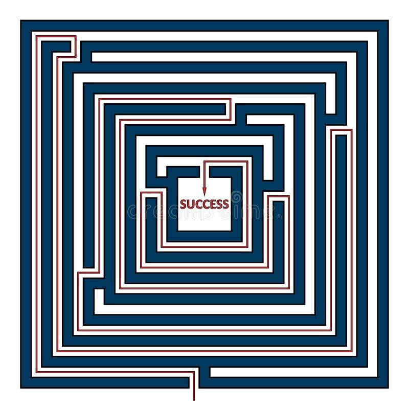Vierkant labyrint royalty-vrije illustratie