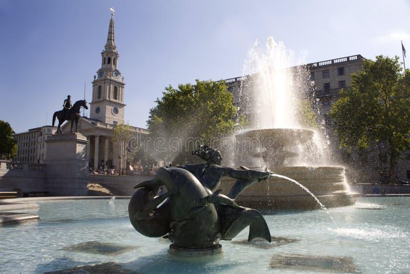 Vierkant Londen - Trafalgar royalty-vrije stock foto