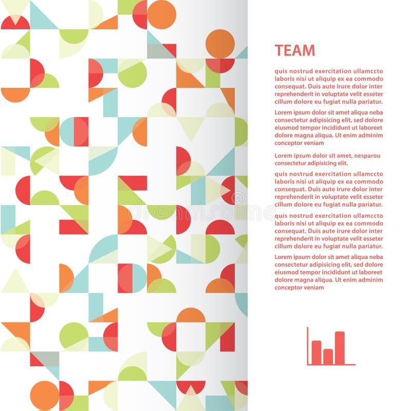 Vierkant malplaatje met funky abstracte achtergrond. stock illustratie