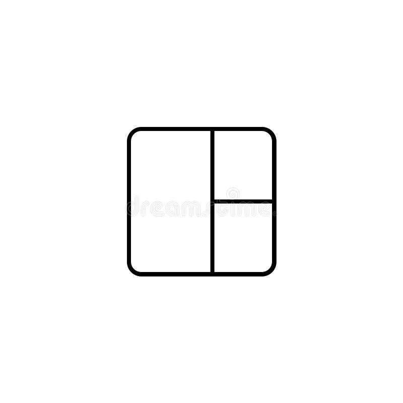 Vierkant met rond hoekenpictogram royalty-vrije illustratie