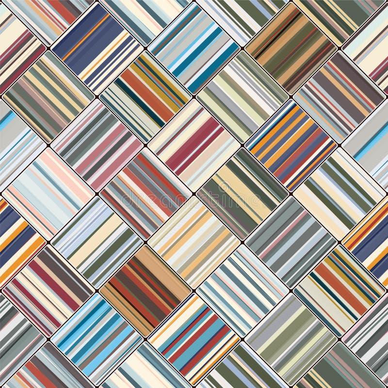 Vierkant naadloos patroon vector illustratie
