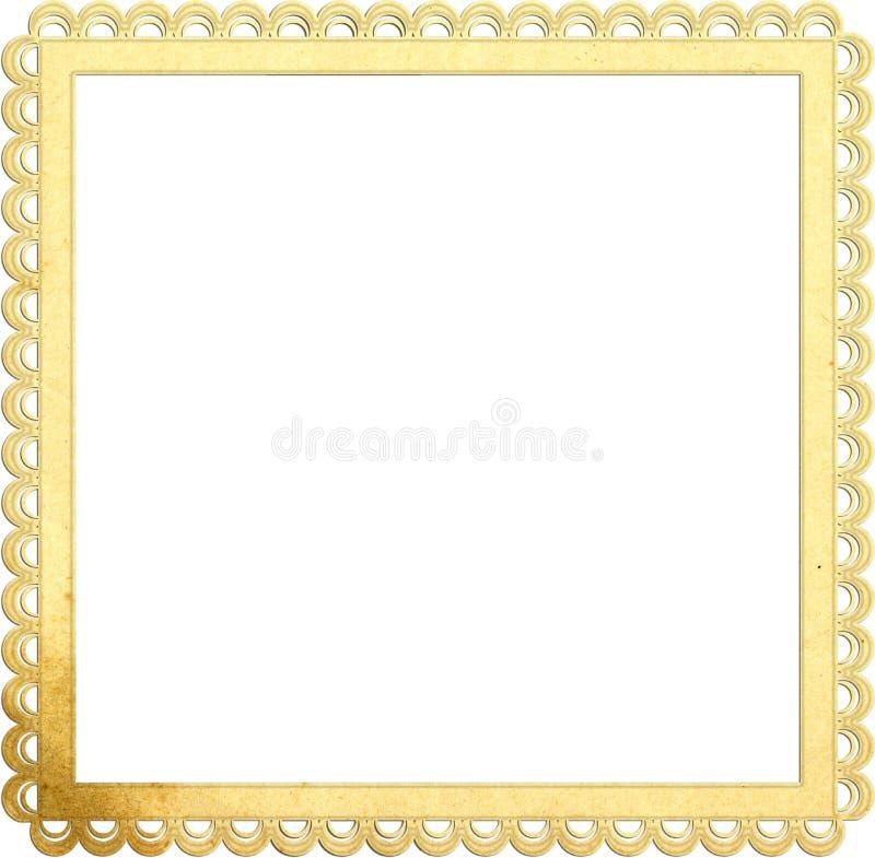 Vierkant oud document frame met mooie randen vector illustratie