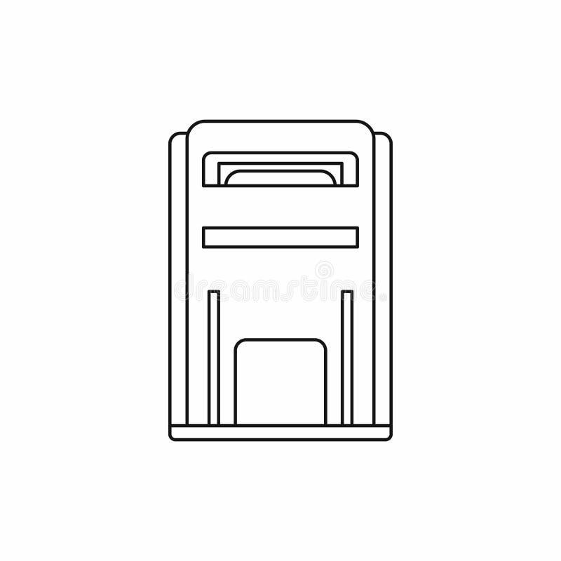 Vierkant postbuspictogram, overzichtsstijl stock illustratie
