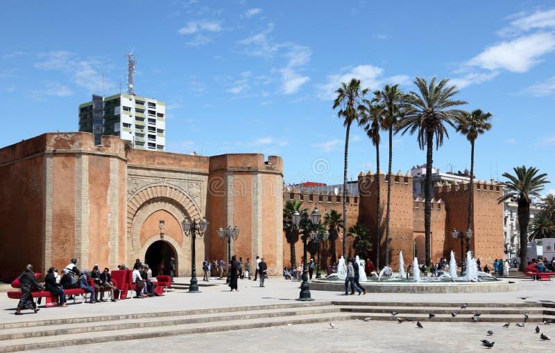 Vierkant in Rabat, Marokko royalty-vrije stock afbeelding