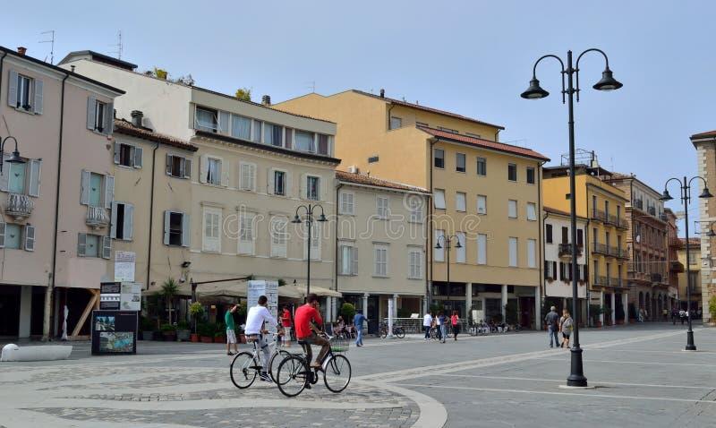 Vierkant in Rimini Italië royalty-vrije stock afbeelding
