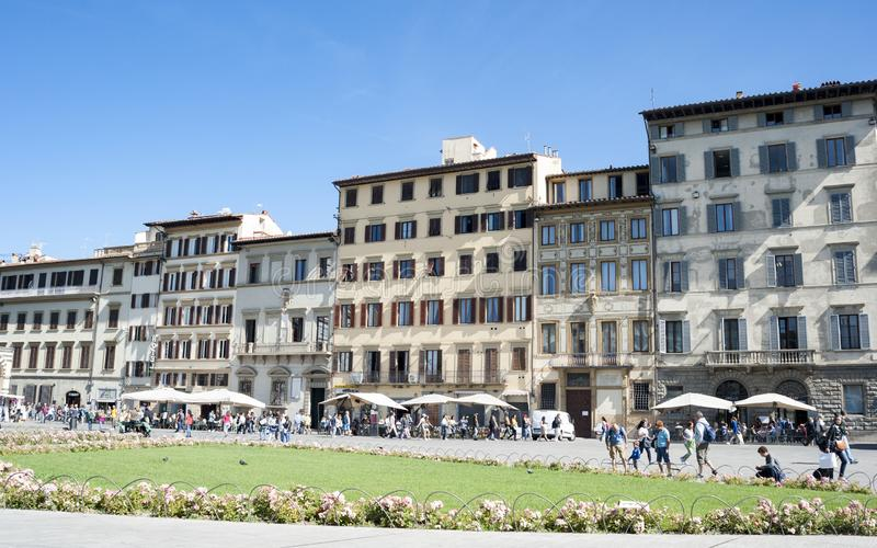 Vierkant S Maria Novella in Florence stock afbeelding