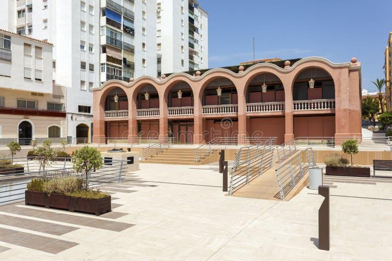 Vierkant in San Pedro de Alcantara, Spanje stock afbeeldingen