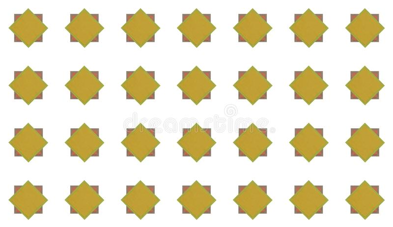 Vierkant van de pictogram plaatsen het vierkante baksteen met cementkader en de gele ruit op witte achtergrond stock foto's