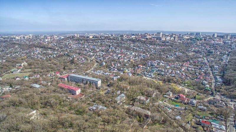 Vierkant van de stad van Stavropol Rusland stock afbeeldingen