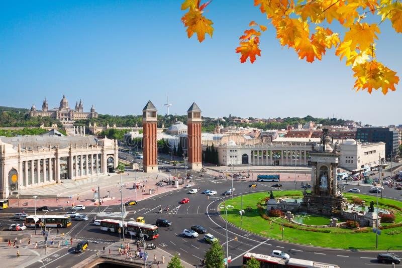 Vierkant van Spanje, Barcelona stock foto