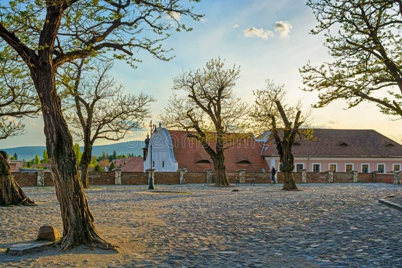 Vierkant van Szentendre-stad, Hongarije stock afbeelding