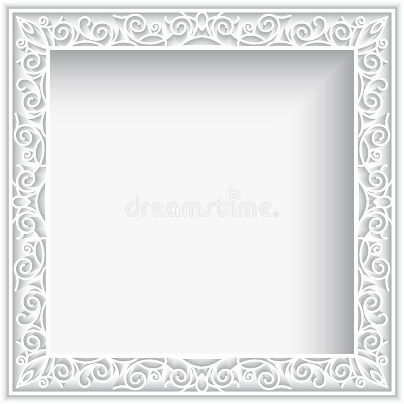 Vierkant Witboekkader royalty-vrije illustratie