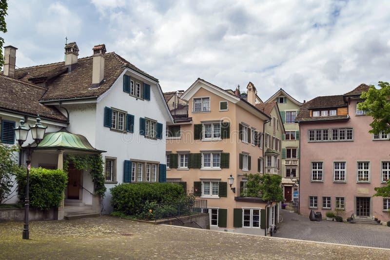 Vierkant in Zürich royalty-vrije stock foto