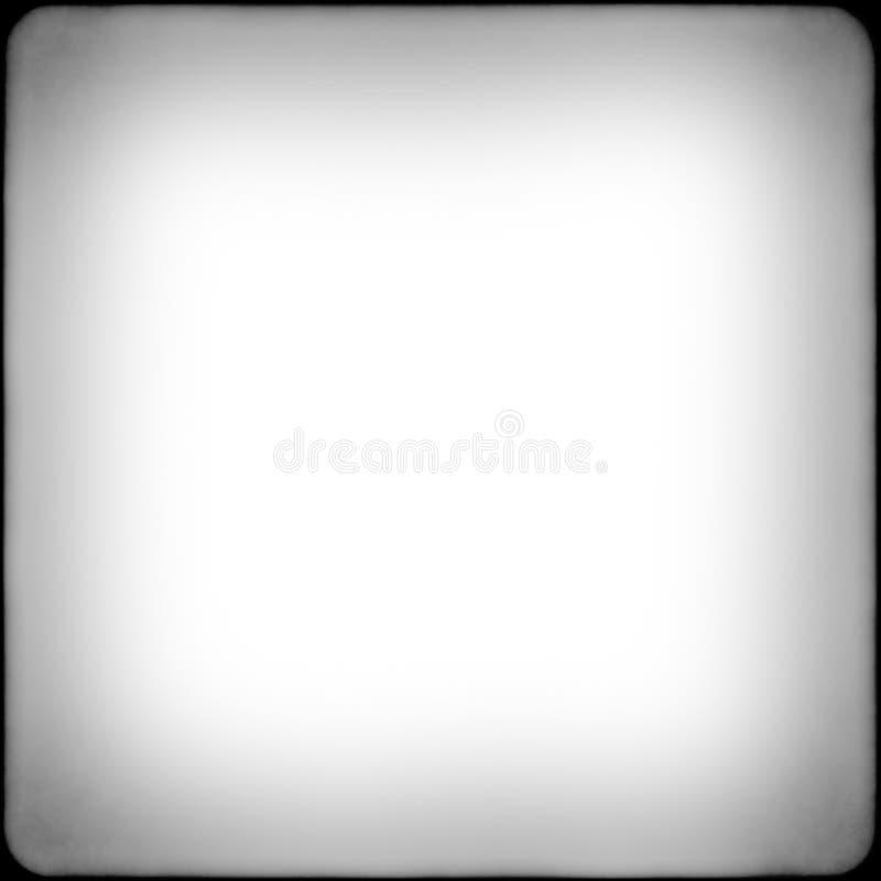 Vierkant zwart-wit filmkader met vignetting royalty-vrije stock afbeelding