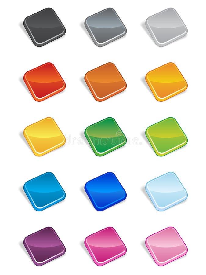 Vierkante 3D Knopen stock illustratie